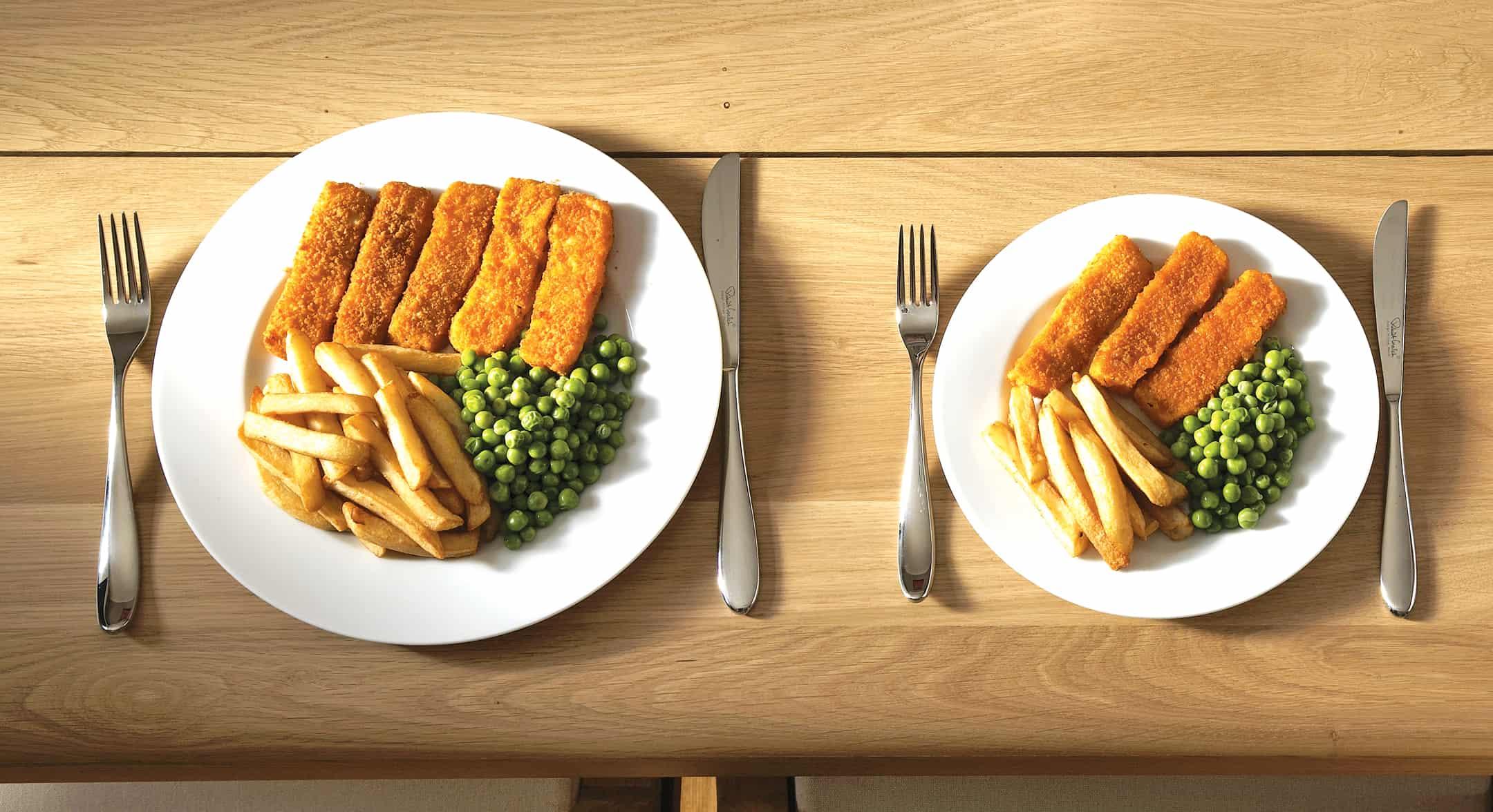 size of plate comparison