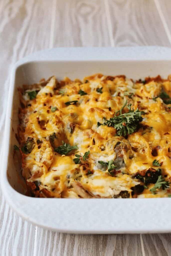 keto-broccoli-chicken-casserole-cream-cheese-mozzarella