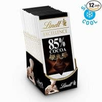 Lindt Excellence Bar, 85% Cocoa Extra Dark Chocolate, Gluten Free, 3.5 Ounce (Pack of 12)
