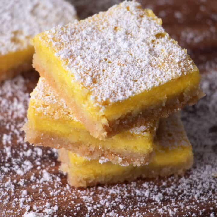keto lemon bars dessert