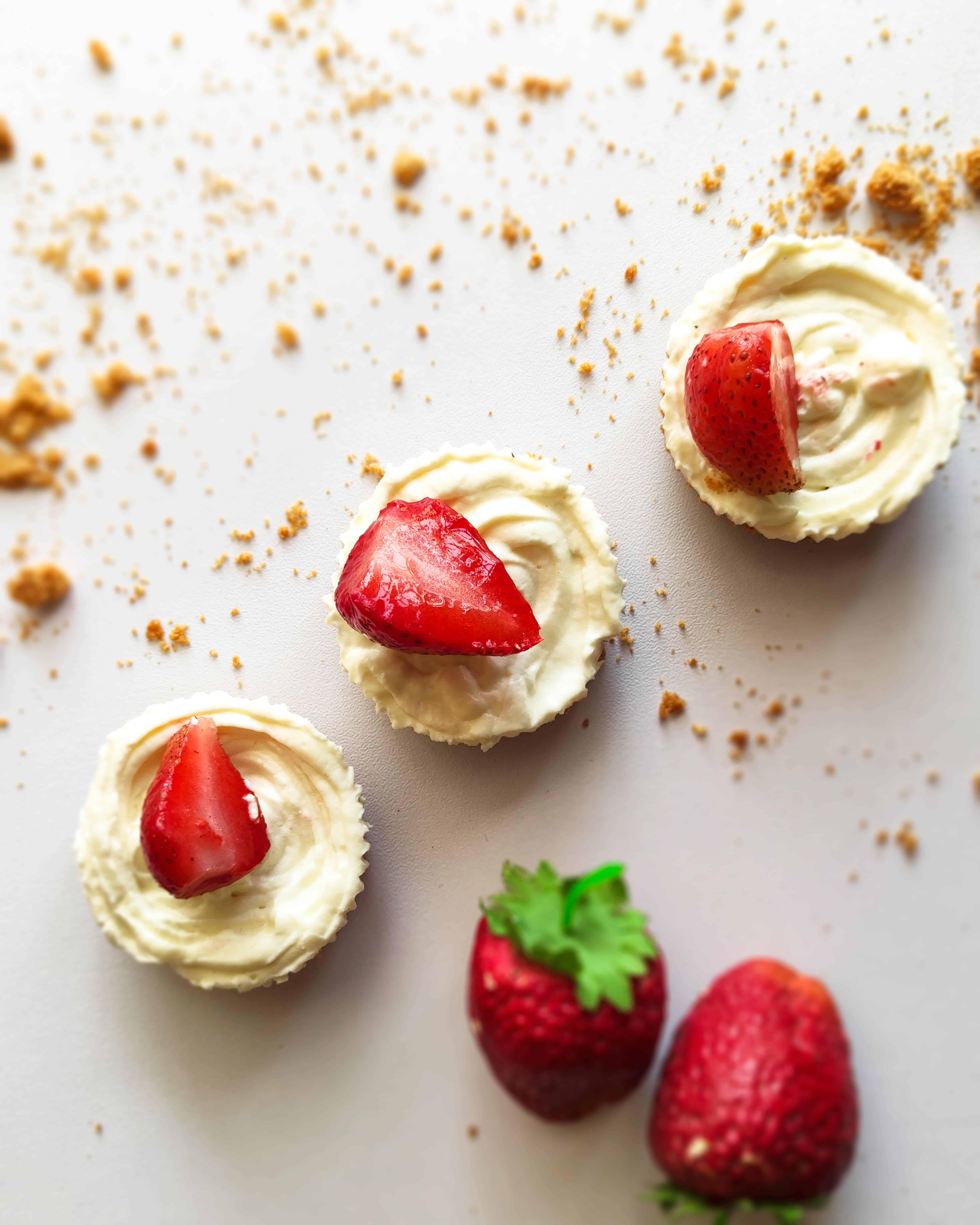 keto-strawberry-cheesecake-bites-overhead-shot