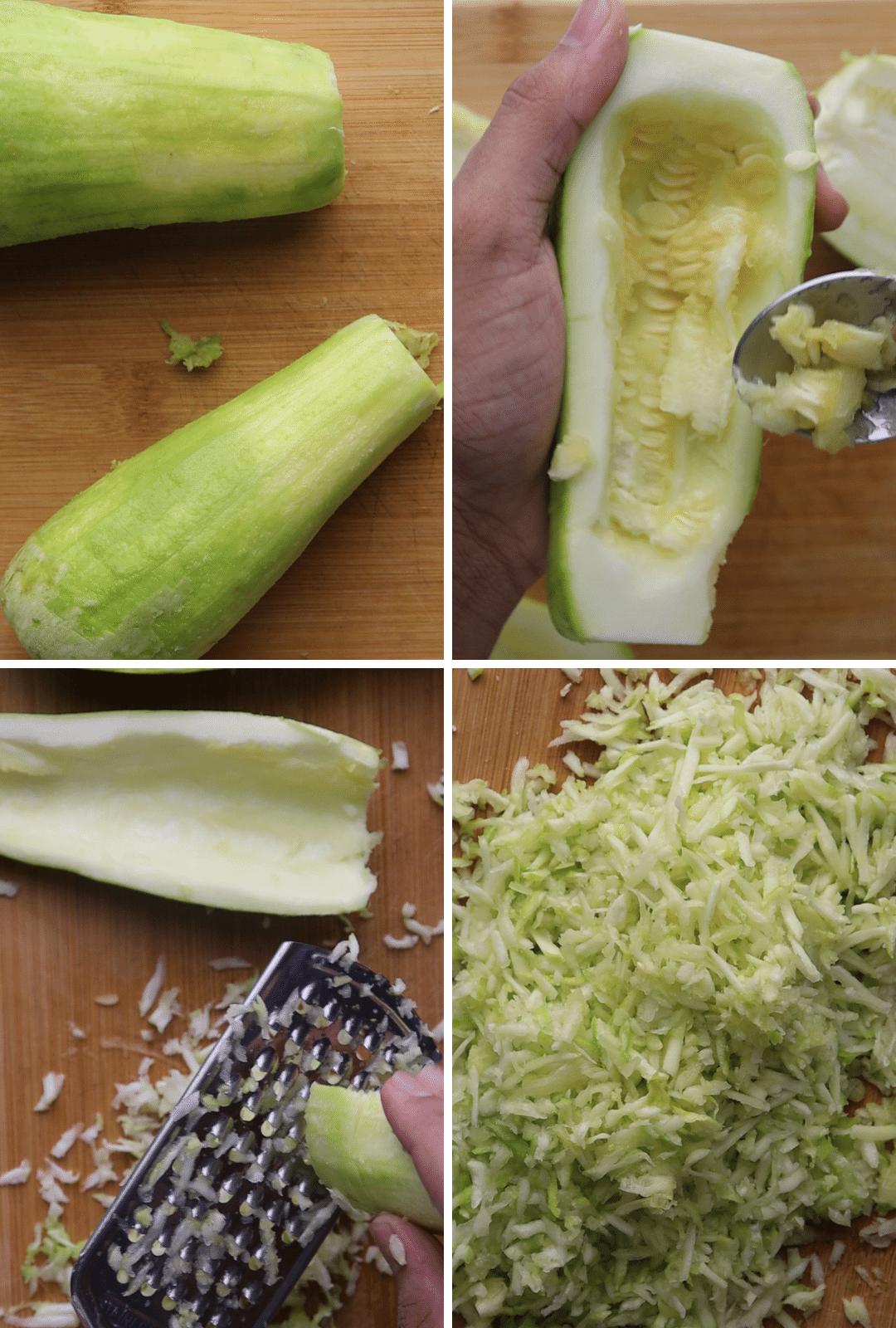 keto-zucchini-halwa-procedure-collage-thehealthcreative