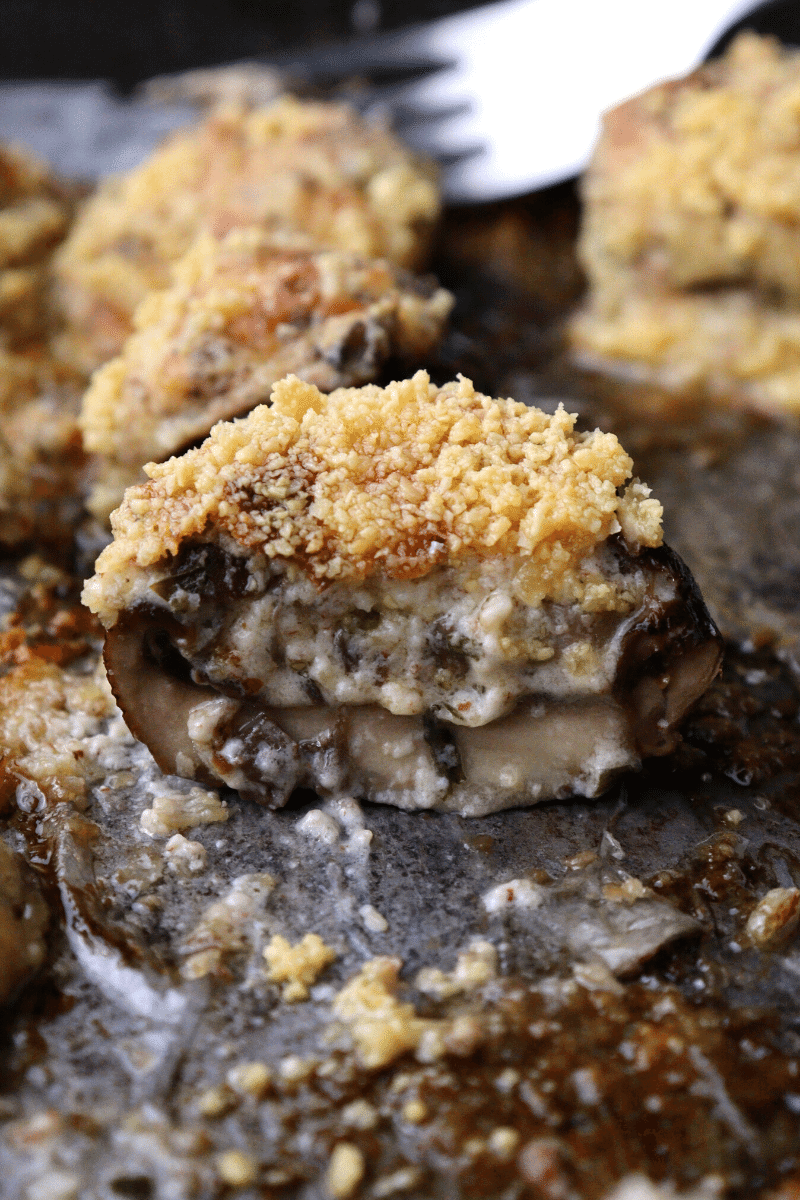 Keto Garlic Parmesan Stuffed Mushrooms