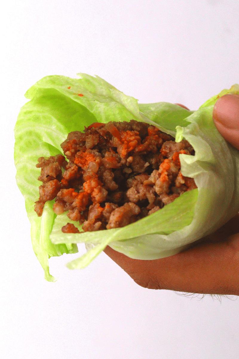 Keto Chili Beef Lettuce Wraps
