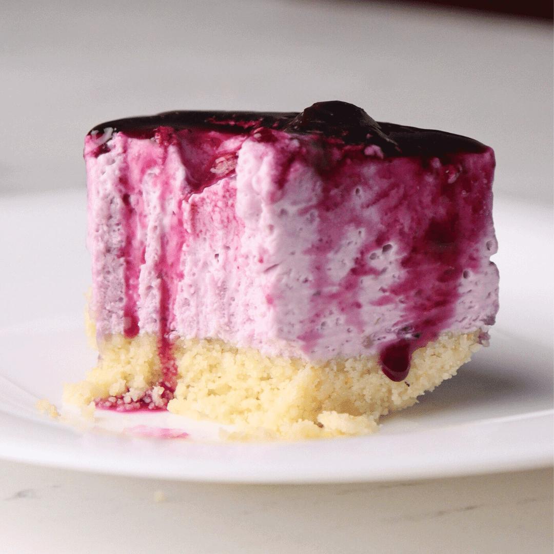 No-Bake Keto Blueberry Cheesecake
