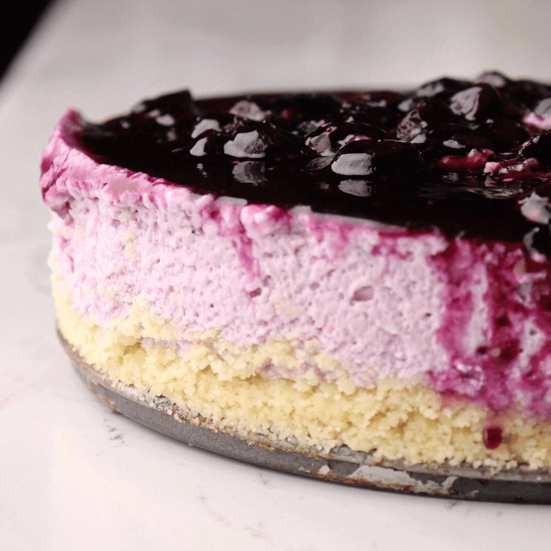 keto-no-bake-blueberry cheesecake