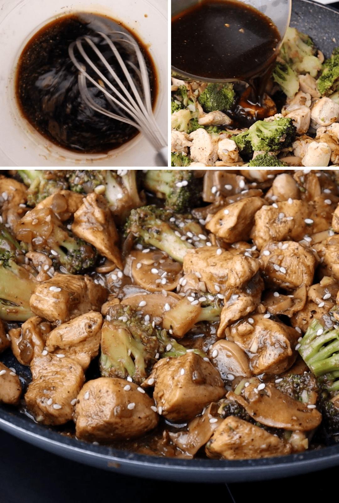 keto-chicken-broccoli-stir-fry-sauce-procedure-collage