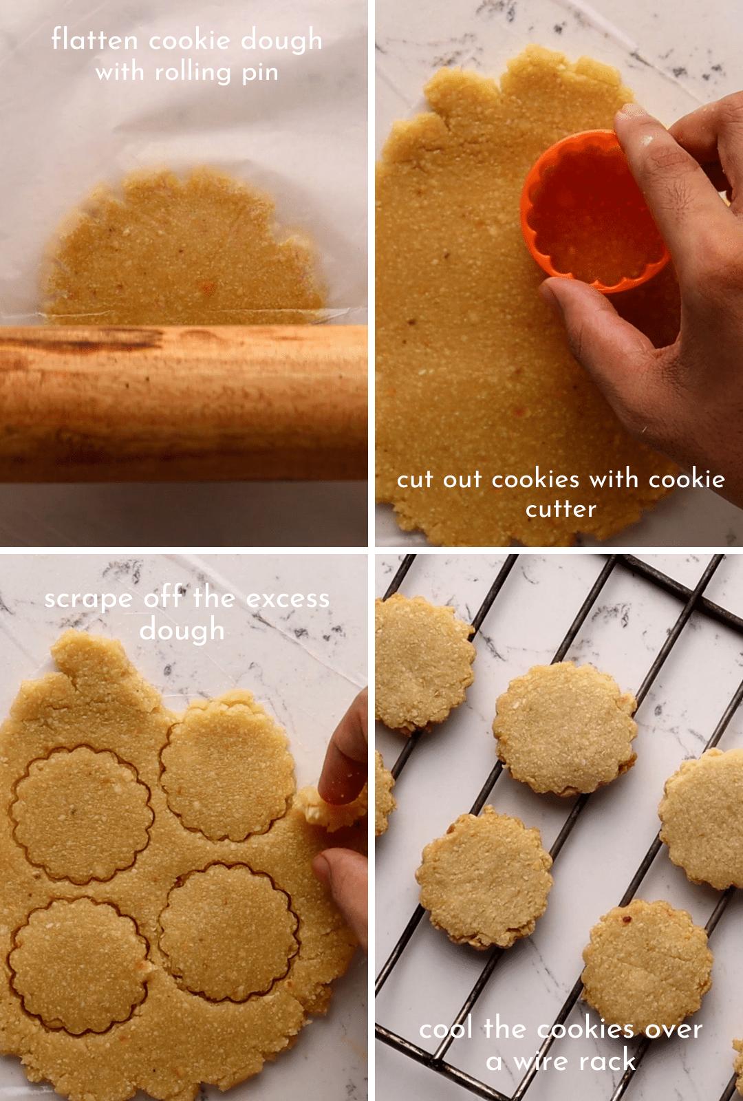 keto-low-carb-shortbread-cookies-procedure-collage