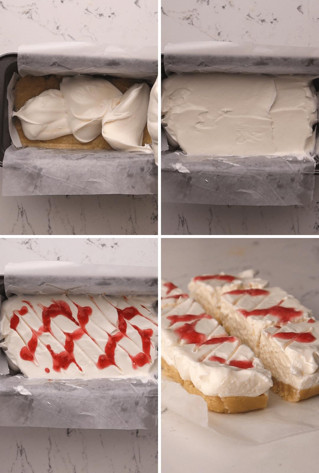 keto-raspberry-cheesecake-bars-procedure-collage-thehealthcreative