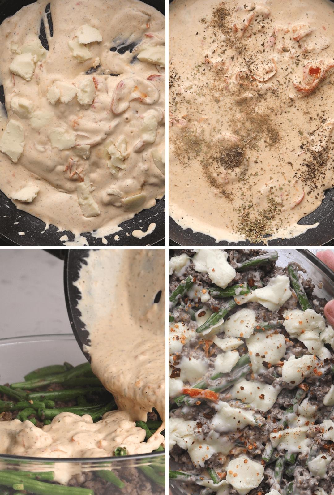 keto-tuscan-beef-creamy-casserole-procedure-collage-thehealthcreative